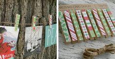 Christmas Card Clothespin Display | Jane