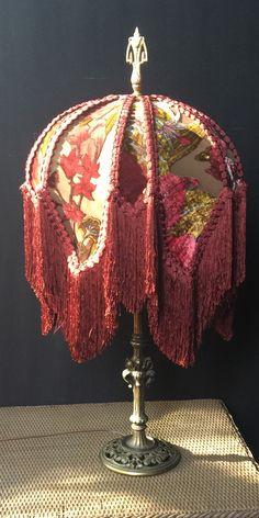 60 New ideas vintage furniture victorian lamp shades Antique Floor Lamps, Victorian Lamps, Chandelier Design, Pink Lamp Shade, Vintage Lampshades, Lampshade Redo, Table Diy, Vanity Lamp, Custom Lamp Shades