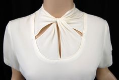 Vintage 40s Ivory Rayon Twist Morlove THE by VintageDevotion