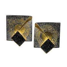 24k, 22k & 18k Gold, Silber, Onyx Druse, graue Diamanten 0,15 ct