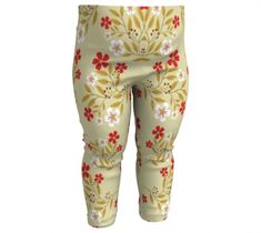 Red Flowers Baby Leggings, Baby Leggings by Brittany Bonnell. Artwork in baby friendly sizes on our printed leggings for your little ones. Baby Leggings, Design Lab, Printed Leggings, Red Flowers, Youth, Spandex, Fitness, Kids, Clothes