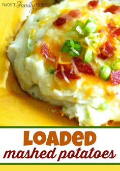 These loaded mashed potatoes with cheese and bacon are our family's favorite recipe to use those extra mashed potatoes from holiday meals or Sunday dinner!