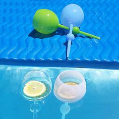 The Beach Glass - floats or sticks in sand upright. Outdoor Drinkware, Need Wine, My Pool, Pool Fun, Pool Accessories, Getting Drunk, Bottle Holders, Cool Items, Picnics