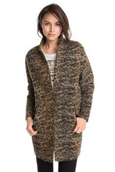 Esprit / Trendy wolmix-coat met animal-look