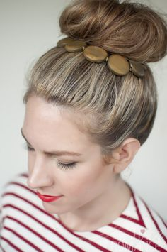 Top knot & wear jewellery in your hair