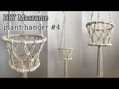 Newest Free [Eng sub] DIY Macrame Plant hanger / 마크라메 플랜트행거 Thoughts When there is small space for the keeping of flowerpots, hanging flowerpots are a excellent Option t Macrame Plant Hanger Patterns, Macrame Wall Hanging Patterns, Macrame Art, Macrame Design, Macrame Projects, Macrame Patterns, Micro Macrame, Decoration, Loom Bracelets