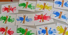 basteln mit meinen i-kindern Kinder Basteln Handabdruck Raupe Nimmersatt How A Pendulum Works to Kee Kids Crafts, Daycare Crafts, Summer Crafts, Toddler Crafts, Arts And Crafts, Paper Crafts, Spring Activities, Toddler Activities, Preschool Activities