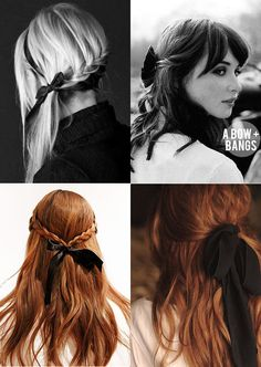 How to wear Bows and Ribbons in your hair (plus Tutorials)