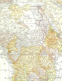 Antique Images: Free Digital Map Background: Vintage Map of Africa Printable Background