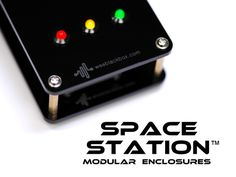 Space Station modular enclosures for Arduino & Raspberry Pi by Dr. Patrick Hickey, via Kickstarter.  Make your own gadgets! Modular laser-cut acrylic housings for Arduino, Raspberry Pi and electronics projects.