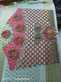 Magam Work Designs, Kids Blouse Designs, Sari Blouse Designs, Designer Blouse Patterns, Bridal Blouse Designs, Hand Designs, Mirror Work Blouse Design, Embroidery Neck Designs, Stylish Blouse Design