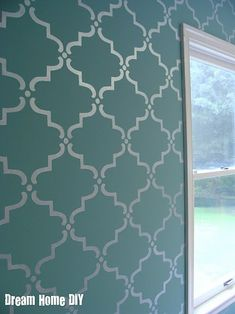 Gorgeous. I wish all my walls weren't heavily textured when I moved in. Can you stencil on textured walls?