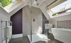 bedroom ensuite dressing room attic vaulted ceiling - Google Search