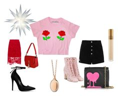 """Be my lucky star"" by anelia-georgieva ❤ liked on Polyvore featuring rag & bone/JEAN, Vjera Vilicnik, Laurence Dacade, RED Valentino, Love Moschino, Monica Rich Kosann and MAC Cosmetics"