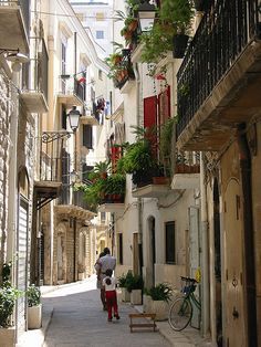 (Old town Bari), Apulia, Italy Mykonos, Santorini, Travel Around The World, Around The Worlds, Places To Travel, Places To Visit, Places In Italy, Southern Italy, Dream Vacations