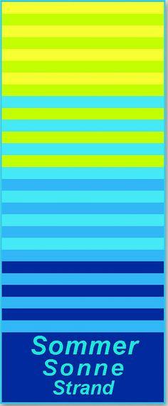 Das sommerliches Strandtuch »Sommer, Sonne, Strand« in frischen Farben ist ein echter Blickfang am Strand und in jedem Bad. Die freundlichen Farben im Streifenlook erhalten durch den tollen Schriftzug noch eine schöne Note. Die tolle Walkfrottierqualität aus dem Hause Dyckhoff überzeugt durch ihre hautfreundlichen Eigenschaften und ist aus 100% Baumwolle hergestellt. Das Strandtuch hat eine gut...