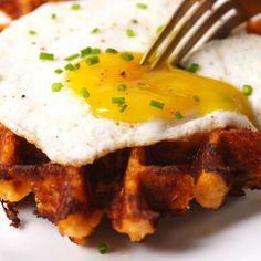 Cauliflower Waffles  - Redbook.com