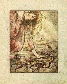 Rapunzel tragedy, by ~kakao-bean on deviantart.