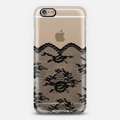 Black Romantic Lace Transparent iPhone 6 Case by Organic Saturation   Casetify. Get $10 off using code: 53ZPEA