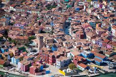 Brightly painted houses, Burano, Italy, 2010. | 22 Stunning Aerial Photos That Reveal A Beauty From Above