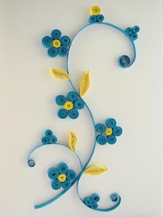hecho a mano cadouri - quilling art: - blue symp - Dieta Paleo Recetas Neli Quilling, Paper Quilling Cards, Paper Quilling Flowers, Paper Quilling Patterns, Origami And Quilling, Quilling Craft, Paper Quilling For Beginners, Quilling Techniques, Quilling Flowers Tutorial
