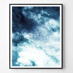 Abstract Print Navy print Watercolor print Minimal print