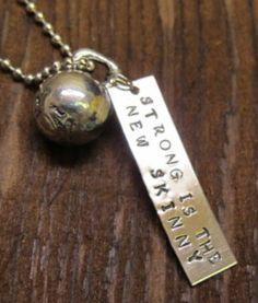 Crossfit STRONG is the NEW SKINNY with pewter Kettlebell Crossfit Charm. $19.99, via Etsy.