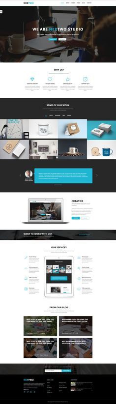 Nextwo is a modern WordPress theme for your business, studio or agency.