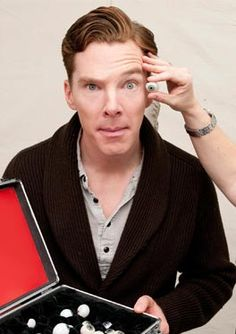 "July 21, 2014 ~ ""Finally, I can photobomb myself!"" Benedict Cumberbatch jokes in the announcement that he will be honored with a wax figure at Madame Tussauds. In this photo, he's measured during the wax figure creation process. [Click for announcement from Madame Tussauds.]"