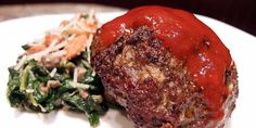 Omnivore Burger with Creamed Spinach and Roasted Almonds