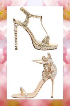 Filigree Gold Stilettos by SERGIO ROSSI