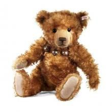 This impressive 50cm bear will appeal to all bear lovers.  With his sparkiling black eyes & thick cinnamon/Brown tipped mohair coat Gentleman Ben is such an extrodinary chap.  He has a hand stitched nose & mouth.    Ben is a limited edition of just 1000 pieces.