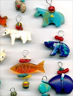 Southwest Animal Fetishes~Amber Bear & Fish,Turquoise Horse,Stone Bears 13 pcs Tucson Gem Show, Native American Jewelry, Bead Weaving, Beaded Embroidery, Jewelry Supplies, Beadwork, Bears, Amber, Arts And Crafts