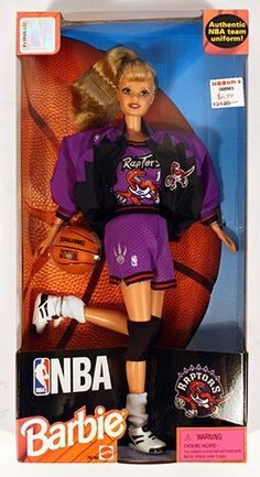 Toronto Raptors Barbie :'D Toronto Raptors, Baby G, Baby Love, Nba, Rap City, Art Toronto, Barbie, Match Point, Basketball Tips