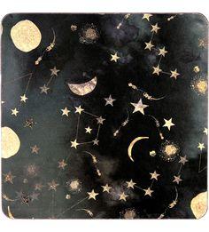Constellation print coasters set of 4