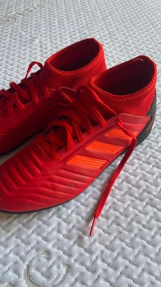 Indoor soccer shoes , it has some minor scratches as you can see in the picture. Adidas Cleats, Adidas Sport, Indoor Soccer, Adidas Predator, Soccer Shoes, Sports, Football Boots, Hs Sports, Cleats