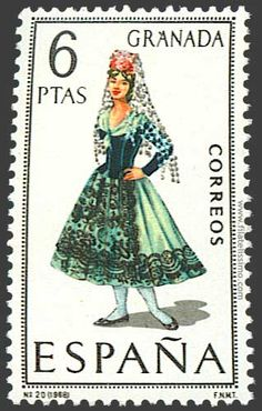 Collection of Spanish stamps:  1968 Granada