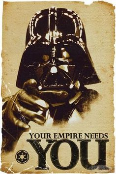 Star Wars The Empire Needs You Poster  Available on http://closeup.de