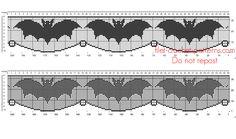 Crochet filet pattern Halloween border with bats - free filet crochet patterns…