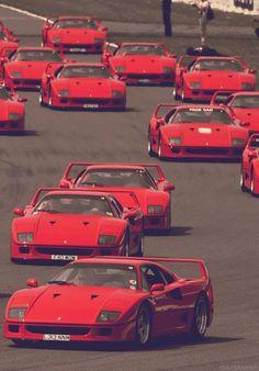 A Sea of Ferrari F40s.
