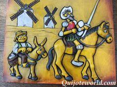 Cuadros artesanales quijote para la decoración: 1ª pág - Quijoteworld, ideas para decorar                                                                                                                                                      Más