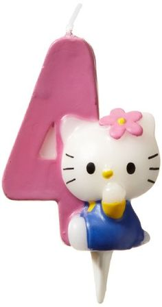 Dekoback 02-08-00171 'Hello Kitty' Cake Candle Number 4 Dekoback http://www.amazon.co.uk/dp/B003VUP98O/ref=cm_sw_r_pi_dp_d0HMwb039XZKM