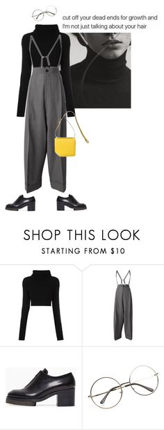 """""""Dead ends"""" by tasteofbliss ❤ liked on Polyvore featuring Valentino, Yohji Yamamoto and Acne Studios"""