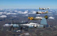 CORSAIR, P-40, ZERO & P-51