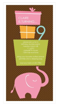 Ele Fun (Pink) Party Invitation | Paper & Pearl