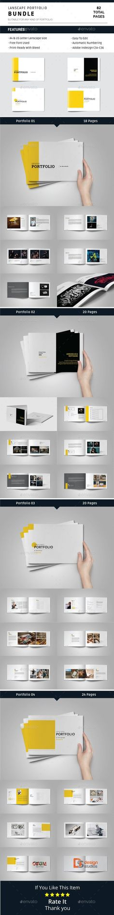 Buy Lanscape Portfolio Bundle by alhaytar on GraphicRiver. Lanscape Portfolio Bundle This is 82 page minimal brochure Portfolio templates – in both and Us Letter Lanscape fo. Design Brochure, Travel Brochure Template, Invoice Template, Stationery Printing, Stationery Design, Print Templates, Design Templates, Cool Business Cards, Print Layout