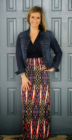 Gilli - Sina Vneck Printed Maxi Dress from @stitchfix #stitchfix www.livinginyellow.com