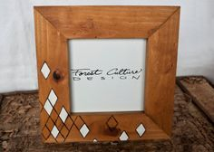 4X4 Wood Picture Frame Modern Diamond Design by ForestCulture