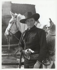 Tim McCoy [1891 – 1978] MGM signed Tim to a contract to star in a series of Westerns and McCoy rapidly rose to stardom, making scores of Westerns. In 1935, he left Hollywood, first to tour with the Ringling Brothers Circus and then with his own Wild West show. He returned to films in 1940, in a series teaming him with Buck Jones and Raymond Hatton.