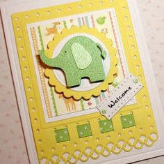 Baby Boy or Girl Card New Arrival Card Baby by PuppyLoveCreations, $4.25